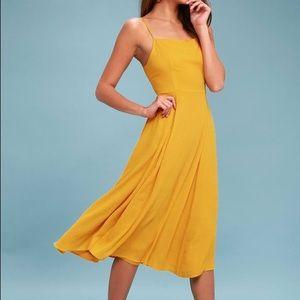 LuLu's yellow sundress NEVER WORN